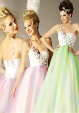 MacDuggal 6495H.  Available in Lime/Multi, Pink/Multi