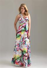 2012 One Shoulder  Night Moves Prom Dress 6502W
