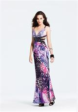 2013 Faviana Multi-Color Print Prom Dress 6521