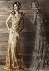 MacDuggal Couture 78503D.  Available in Antique Silver, Latte