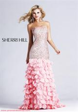 Sherri Hill 8434.  Available in Lilac, Peach, Pink