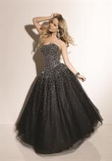 Mori Lee 91015SP.  Available in Black, Sizzle, White