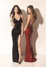 Mori Lee 91101.  Available in Black, Red, Silver