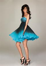 Evenings By Allure A470.  Available in Turquoise/Black