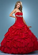 Landa Quinceanera AQ09.  Available in Fuchsia, Paris Blue, Peony, Purple, Red, Tangerine