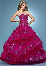 Landa Quinceanera AQ12.  Available in Gold, Lipstick, Sapphire