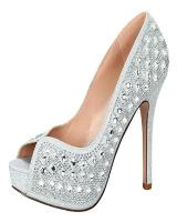 Blossom-Footwear Carina-2.  Available in Nude, Silver Sparkle