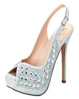 Blossom-Footwear Carina-3.  Available in Silver Sparkle