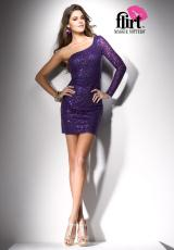PF4121 Short Fitted Flirt 2013 Prom Dress