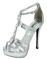 Blossom-Footwear Isabel-8A.  Available in Silver Satin