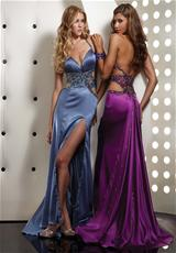 Jasz Couture 4357.  Available in Orange, Periwinkle