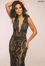 Jovani 99077.  Available in Black/Nude, Blue/Nude, Off White/Nude, Red/Nude