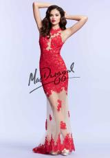 MacDuggal 61842R.  Available in Fresh Blue, Red/Nude