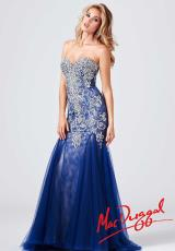 MacDuggal 81719M.  Available in Black/Nude, Hot Pink, Ivory/Nude, Midnight
