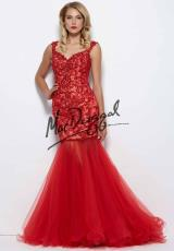 MacDuggal 81900R.  Available in Black/Silver, Nude/Silver, Red/Nude
