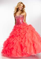 Mori Lee 95115.  Available in Deep Blue, Neon Pink, Red