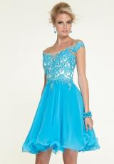 Mori Lee Sticks & Stones 9310.  Available in Bright Blue, Hot Pink