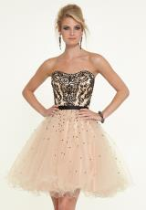 Mori Lee Sticks & Stones 9320.  Available in Nude/Black, Nude/Red