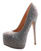 Blossom-Footwear Nelson-100.  Available in Black Pearl Suede, Nude Sparkle, Silver Sparkle
