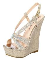 Blossom-Footwear Nemo-68.  Available in Nude Sparkle, Silver Sparkle