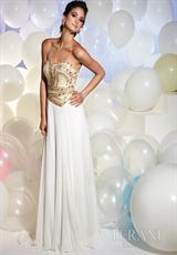 Terani P613.  Available in Ivory/Gold, Pink
