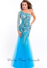 Party Time Dresses 6493.  Available in Neon Pink, Turquoise, White