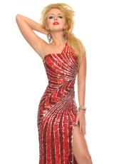 Precious Formals P8819.  Available in New Mint, Red/Silver