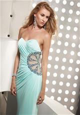 Jasz Couture 4344.  Available in Mint, Pink, Red, White