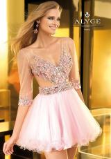 2013 Sleeved Alyce Prom Dress 2201