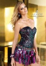 2013 Alyce Short Fitted Bodice Prom Dress 2224