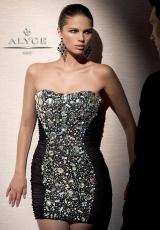 2013 Alyce Short Jersey Prom Dress 4287