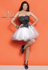 Alyce Short 4298.  Available in Black/White