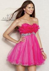 2013 Alyce Short Feather Top Prom Dress 4305