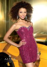 2014 Alyce Short Sweetheart Prom Dress 4309