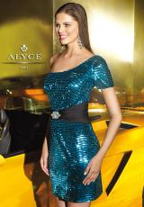 2013 Alyce Short Fitted Prom Dress 4313