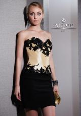 2013 Alyce Lace Top Prom Dress 5497