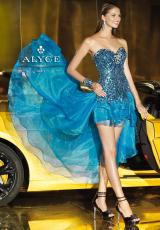 2013 Alyce Corset High Low Prom Dress 6020