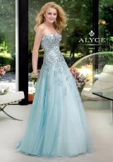 Alyce 6029.  Available in Light Blue, Pink, Yellow