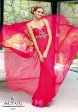 2014 Alyce Long Flowy Prom Dress 6062