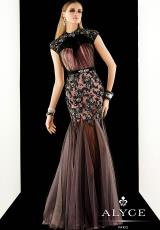 Alyce 2367.  Available in Black/Pink, Ivory/Nude, Red