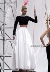 Alyce 2433.  Available in Black Solid, Black Top/White Skirt, Hot Pink Top/Rose Skirt, White Top/Black Skirt