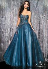 2014 Alyce Paris Turquoise Prom Dress 5556