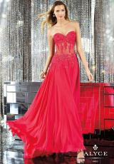 2014 Alyce Paris Corset Prom Dress 6135