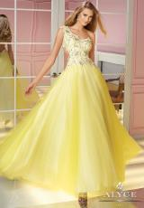 2014 Alyce Paris Tulle Skirt Prom Dress 6197