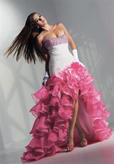 2012 Ruffled High Low Alyce Prom Dress 6714