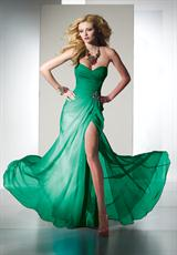 2014 Chiffon Long Flowy BDazzle 35442 Prom Dress