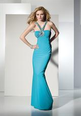 2013 BDazzle Halter Fitted 35447 Prom Dress