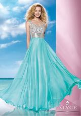 2014 B'Dazzle Fitted Waist Prom Dress 35599