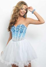 2014 Blush Corset Prom Dress 9677