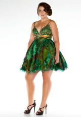 Fabulouss Plus Size 42723F.  Available in Green/Multi